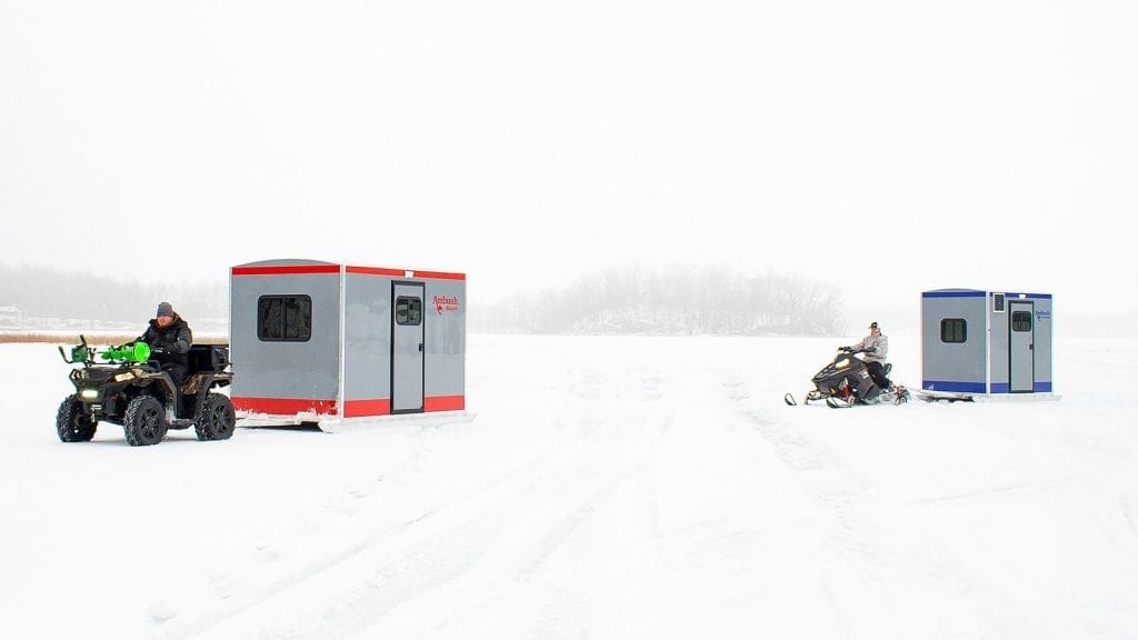 ice fishing house - make the most of your winter with an ice fishing house