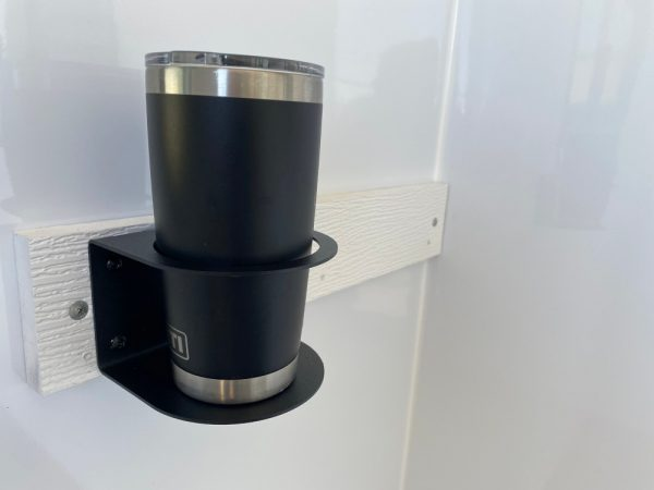 ice shanty cup holder with tumbler